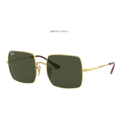 Ray-Ban RB1971 SQUARE 914731 GOLD/green Napszemüveg