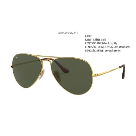 RAY-BAN RB3689 AVIATOR METAL II  914731 NAPSZEMÜVEG