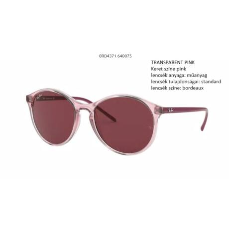 RAY-BAN RB4371 640075 TRANSPARENT PINK NAPSZEMÜVEG